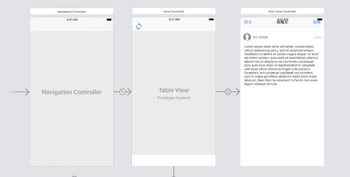 iPhoneアプリ開発 画面
