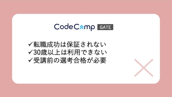 CodeCampGATE悪い評判
